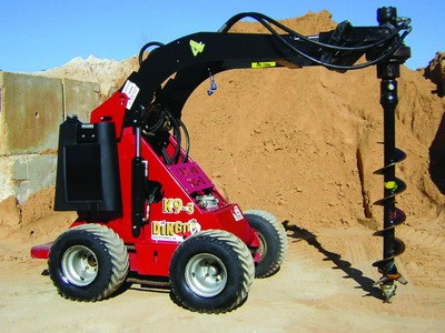 Post Hole Boring Attachment c/w Mini Skid Steer Loader Dingo