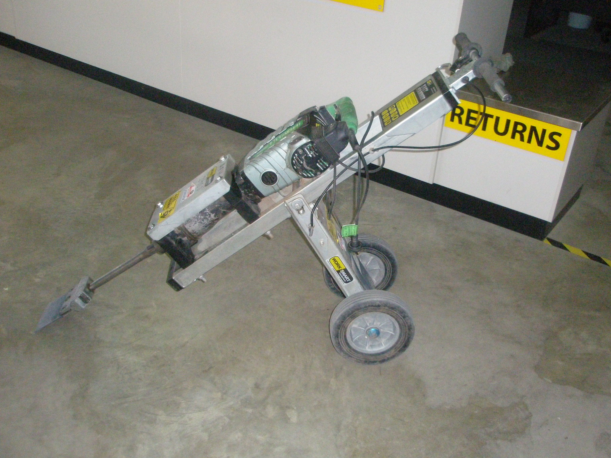 Hire tile removal electric jack hammer on trolley all equipment tile removal electric jack hammer on trolley dailygadgetfo Gallery