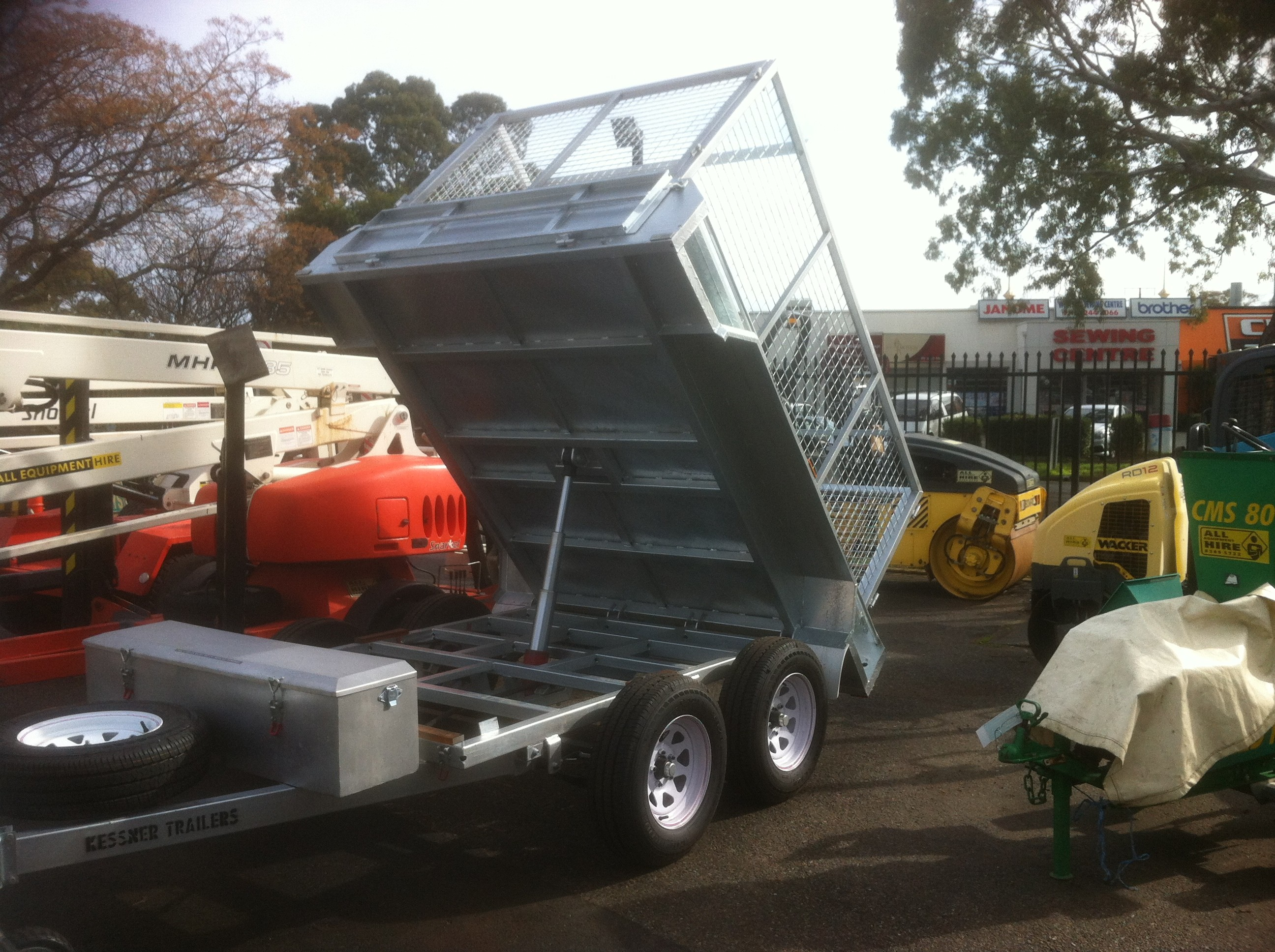 Tipping Cage or Box Trailer